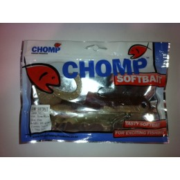 "CHOMP LARGE SERIES SOFTBAIT, BROWN/WHITE, 10"" (250mm), 100 GRAMS, 1P/BAG"