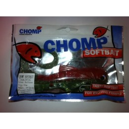 "CHOMP LARGE SERIES SOFTBAIT, GREEN/RED, 10"" (250mm), 100 GRAMS, 1P/BAG"