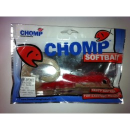 "CHOMP LARGE SERIES SOFTBAIT, RED/WHITE, 10"" (250mm), 100 GRAMS, 1P/BAG"