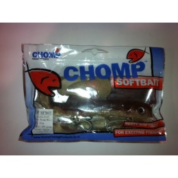 "CHOMP EXTRA LARGE SERIES SOFTBAIT, BROWN/WHITE, 14"" (350MM), 200 GRAMS, 1P/BAG"