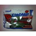 "CHOMP EXTRA LARGE SERIES SOFTBAIT, GREEN/RED, 14"" (350MM), 200 GRAMS, 1P/BAG"