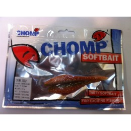 "CHOMP SHAD SOFTBAIT, GREEN/ORANGE, 4"", (100mm), 9.1 GRAMS, 2P/BAG, TRIAL PACK"