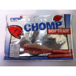"CHOMP SHAD SOFTBAIT, PINK/WHITE, 4"", (100mm), 9.1 GRAMS, 2P/BAG"