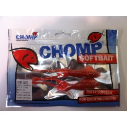 "CHOMP SQUID SOFTBAIT, PINK/WHITE, 5"" (130mm), 11 GRAMS, 2P/BAG TRIAL PACK"