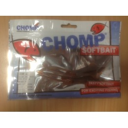 "CHOMP SQUID SOFTBAIT, BROWN/WHITE, 5"" (130mm), 11 GRAMS, 2P/BAG TRIAL PACK"