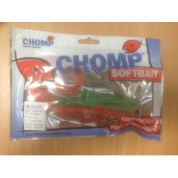 "CHOMP LARGE SOFTBAIT, GREEN/ORANGE, 10"" (250mm), 100 GRAMS, 1P/BAG"