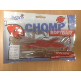 "CHOMP LARGE SERIES SOFTBAIT, PINK/WHITE, 10"" (250mm), 100 GRAMS, 1P/BAG"