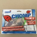 CHOMP CRIMPED RIG - 200 LB NYLON WITH TWO STAINLESS STEEL 39960 HOOKS - (1 BAG)