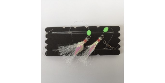 Chomp Flasher Rig White Tinsel