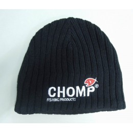 CHOMP BLACK KNITTED BEANIE